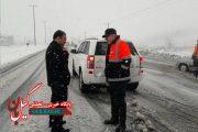 بازدیدهای مستمر فرماندار لاهیجان از وضعیت بارش برف در سطح این شهرستان