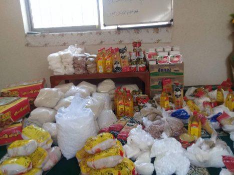 توزیع 90 سبد غذایی به مناسبت شروع ماه مبارک رمضان