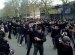 آیین مذهبی کرب زنی محله شعربافان لاهیجان در روز عاشورا