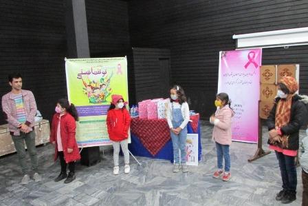 اختتامیه مسابقه نقاشی «تو تنها نیستی» ویژه برگزیدگان گیلانی در لاهیجان برگزار شد
